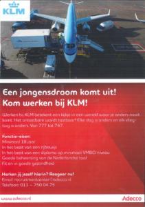 Zoek je een mooie baan bij KLM?